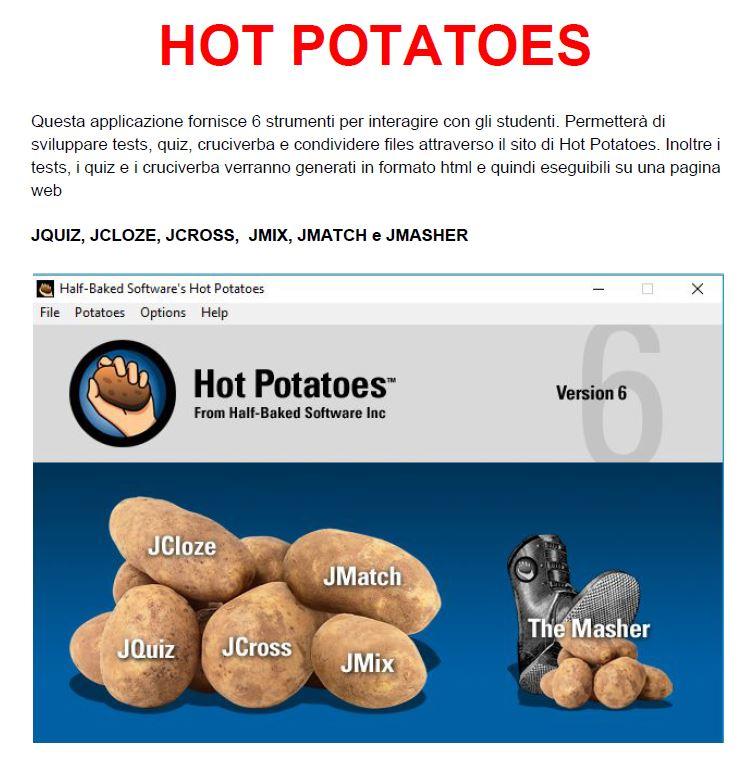 immagine hot potatoes