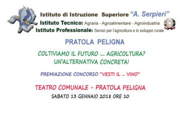 """Pratola Peligna: Convegno e premiazione Concorso """"Vesti … il vino"""" 13 -1 – 2018"""