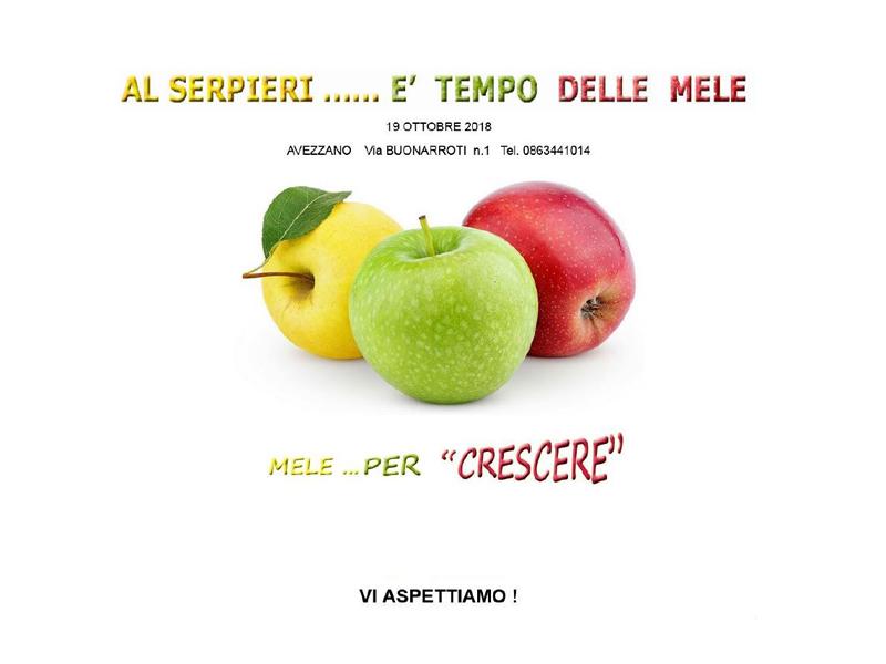 Al Serpieri … è tempo delle mele